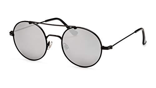 Filtral Verspiegelte Herren-Sonnenbrille/Runde Retro-Brille mit Doppelsteg F3021239