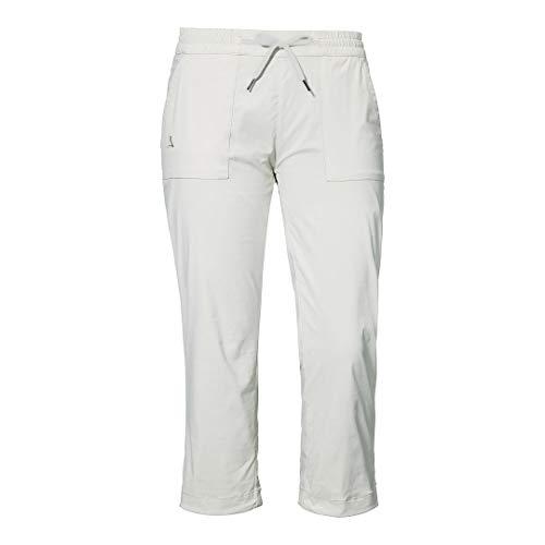 Schöffel Damen Pants Rangun L, atmungsaktive Outdoor Hose für Freizeit und Trekking, robuste 3/4 Hose mit hohem