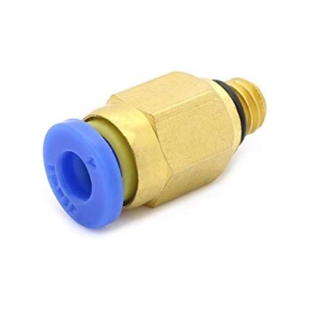 MagicDealz 3D Printer Pc4-M6 Fitting Connector For OD 4 mm PTFE Tube(Thread Size : M6, Feed For 1.75 mm Filament)