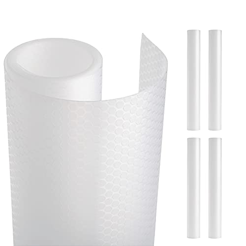 Kingrol 4 Pack 16.9 x 59 Inch Shelf Liners, Non-Slip Cabinet Drawer Liner, Waterproof Mat for Kitchen Cabinet, Cupboard, Refrigerator, Desk, Wire Shelves