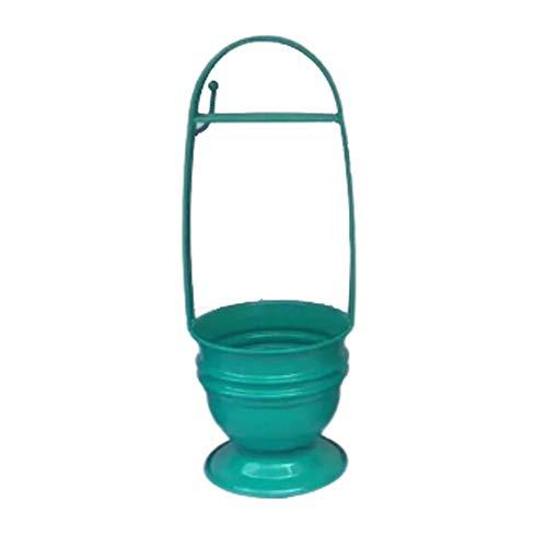 CJCJ-LOVE Kohle-Halter für Shisha, Metall, bunt, Kohlekorb, Aufbewahrungsbox, mit Griff, für arabische Wasserpfeife, Grün
