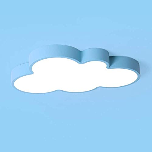 miwaimao White Light - Lámpara de techo ultrafina, mejora con un entorno de 360°, iluminación creativa LED, para dormitorio y guardería, diseño de nubes