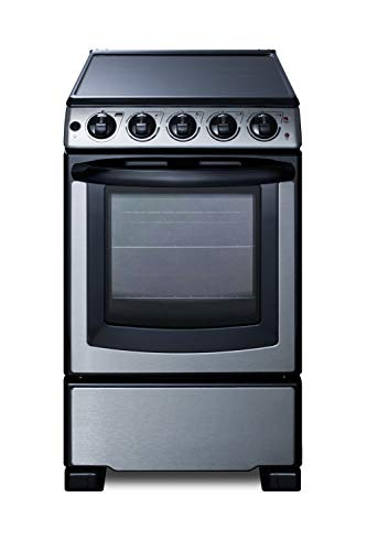 Summit REX2071SSRT 20 Inch Electric Freestanding Range in Stainless Steel