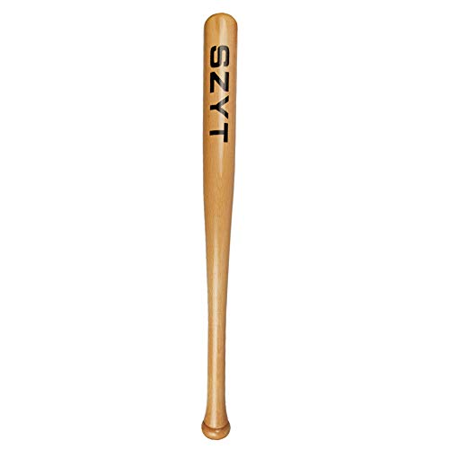 SZYT Baseball Bat SelfDefense Softball Bat Home Defense Lightweight Wood 25 inch Yellow