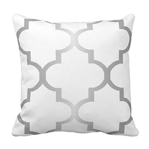 ZQLXD Funda de almohada de plata marroquí grande con diseño de cuadrilátero, ideal para decoración del hogar, 50,8 x 50,8 cm