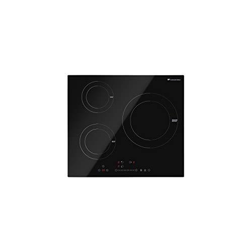 Continental Edison - Placa de cocina para inducción (3 fuegos, 7000 W)