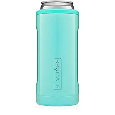 Br?Mate Hopsulator Slim Double-walled Stainless Steel Insulated Can Cooler for 12 Oz Slim Cans (Aqua)
