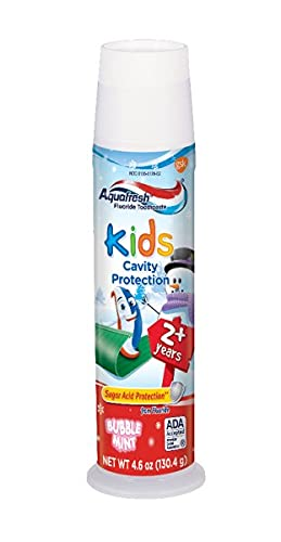 Aquafresh Kids Cavity Protection Toothpaste, Bubblemint 4.6...