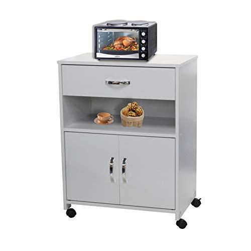 HTI-Line Küchenschrank Blanca Küchenschrank Anrichte Mehrzweckschrank Beistellschrank Küchenmöbel Küchenrollwagen Weiß