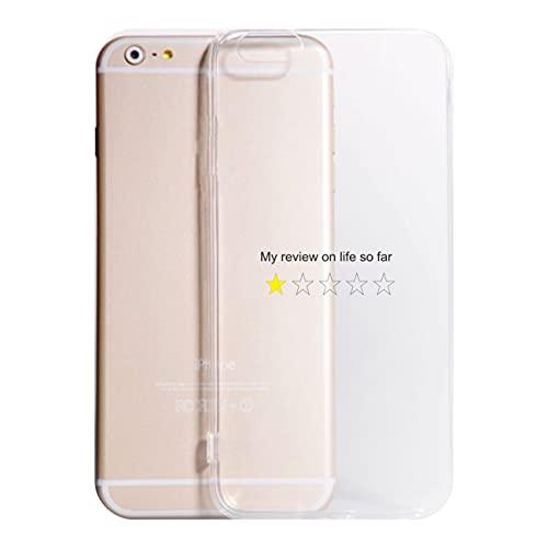 Cover compatibile con Tutti i Modelli iPhone - MY REVIEW- Trasparente UltraSottili AntiGraffio Antiurto Case Custodia (TRASPARENTE, 6 PLUS)