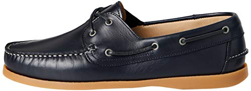 find. Amz038_Leather, Chaussures Bateau Homme, Bleu (Navy/Gum), 42 EU