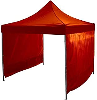 EYE EFFECT schönes Faltzelt 3x3m - Faltpavillon - Alu Pavillon Partyzelt (Orange)