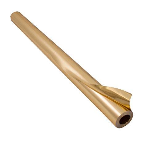 folia R 11 - Alufolie auf Rolle, doppelseitig kaschiert, ca. 50 cm x 10 m, gold / gold - ideal zum Basteln und Verpacken