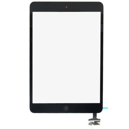 Digitizer Touch Screen with Ic Connector Home Flex Assembly for Ipad Mini (Black)