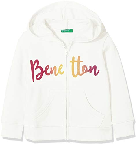 United Colors of Benetton Mädchen Jacket W/Hood L/S Jacke, Weiß (Off White 074), 110 (Herstellergröße: XS)