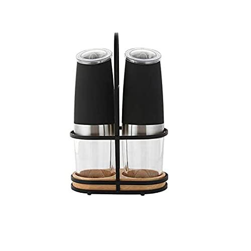 Exquisito Molinillo de Pimienta Molino de pimienta, amoladora automática que funciona con batería, sacudida de especias, grosería ajustable, operación de una mano, uso para sal
