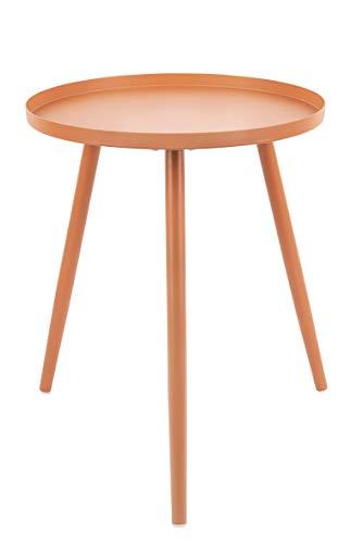 Present Time - Table d'appoint métal Marron Caramel Elle Ø40 cm