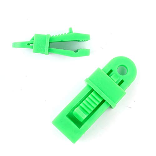Ewendy 1/10 clips de plástico resistentes para tiendas de campaña, avión, para toldos de camping, lonas, caravanas, color negro (1 unidad, verde)