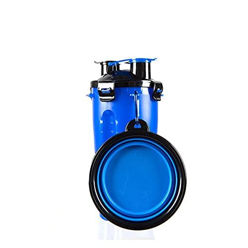 QOXEFPJZ Botella Agua Perro Las Mascotas salen con Dos Tazas de Agua, Beber Botellas de Agua y Botellas de Agua Plegables para Perros Alimentos al Aire Libre acompañando Tazas de Agua (Color : I)