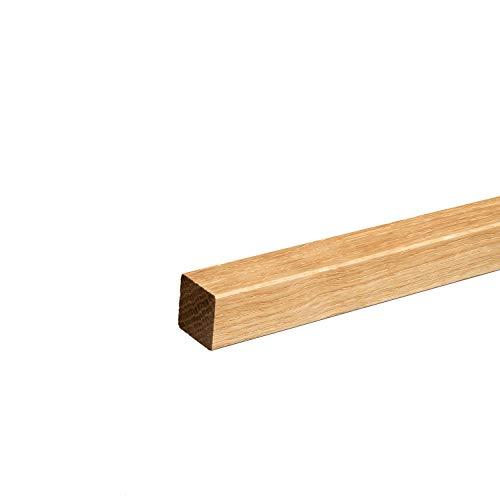 Quadratleiste Abschlussleiste Sockelleiste Eiche GEÖLT 20x20x2300mm [SPARPAKET] (5 Stück (11,5lfm))