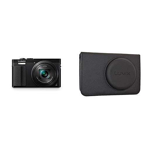 Panasonic DMC-TZ71EG-K Lumix Kompaktkamera (12,1 Megapixel, 30-Fach Opt. Zoom, 7,6 cm (3 Zoll) LCD-Display, Full HD, WiFi, USB 2.0) schwarz & DMW-PHS72XEK Kameratasche Lumix DMC-TZ60,schwarz