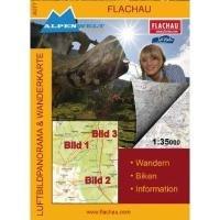 Luftbildpanorama & Wanderkarte - Flachau