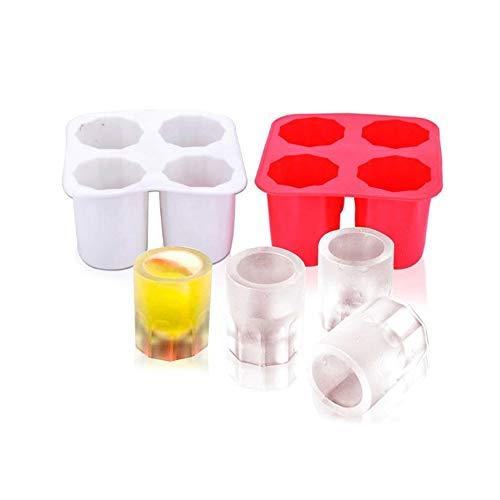 CILAJOOI Summer 4 Cavity Ice Cup Mold DIY Wine Glass Home Ice Lattice Making Tool Cocina Bar Party Bebidas