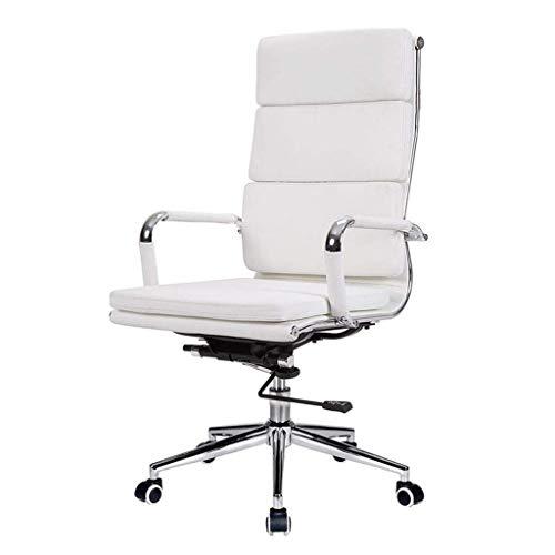 N/Z Daily Equipment Computer Chair Employee Office Chair Women's Shoes White Boss Chair Home Living Room Bedroom Swivel Chair Household Stool White 65cm*65cm*115cm