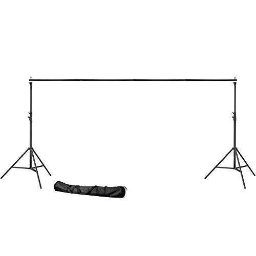 Bresser BR-D37 Hintergrundsystem, breit Heavy duty, 300 x 360 cm schwarz