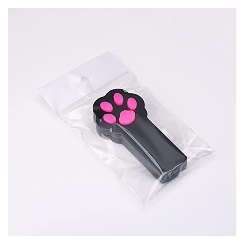 JSJJAQW Cat Supplies Interaktives Spielzeug für Katzen, Pfotenabdruckmotiv, Schwarz