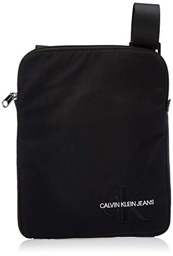 Calvin Klein Ckj Monogram Nylon Flat Pack - Borse a spalla Uomo, Nero (Black), 0.1x0.1x0.1 cm (W x H L)