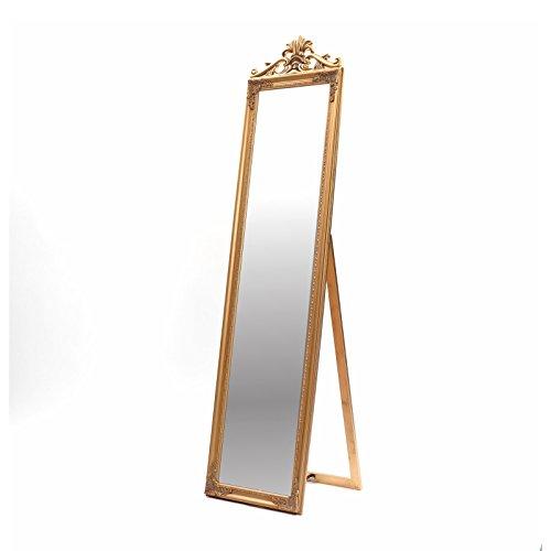 DESIGN DELIGHTS PRACHTVOLLER STANDSPIEGEL Olivia | 180 cm, antik Gold, mit Krone | Barock Rahmen