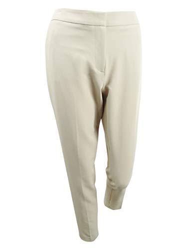 Tommy Hilfiger Womens Princeton Skinny Ankle Tuxedo Pant Tan 12