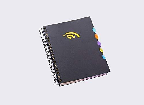Cuaderno de tapa dura con espiral, cuaderno de reglas, cuaderno de dibujo con separadores, personalizable, cuaderno de bocetos para adultos, color negro A4 22x30cm