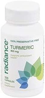 Radiance Turmeric 400mg, 100 Capsules, 100% Preservative Free Curcumin