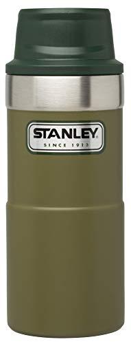 Stanley Legendary Classic Einhand-Vakuum-Thermobecher 0.35 L, Olivgrün, 18/8 Edelstahl, Doppelwandig Vakuumisoliert, Isolierbecher Kaffeebecher Teebecher Trinkbecher