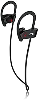 JTD Premium Wireless Bluetooth 4.1 Headphones Noise Cancelling Light-Weight Sweat Proof Headphones with Microphone,Great for Sports,Running,Gym,Exercise-Wireless Bluetooth Earbuds Headset Earphones