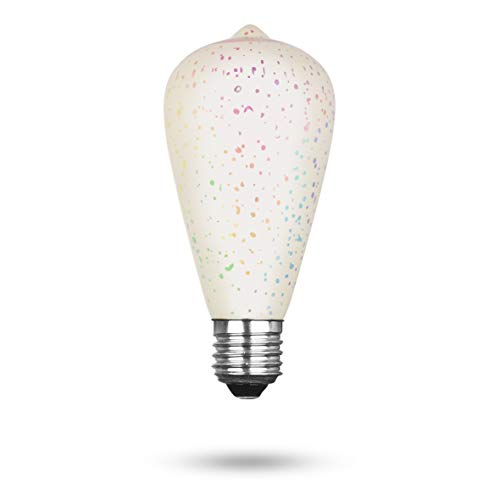 Xqlite LSO-04081 LED-Leuchtmittel mit 3D-Feuerwerk-Effekt als Dekorationsbeleuchtung, Glas, E27, 3.5 W, Transparent, 14.2 x 6.7 x 6.7 cm