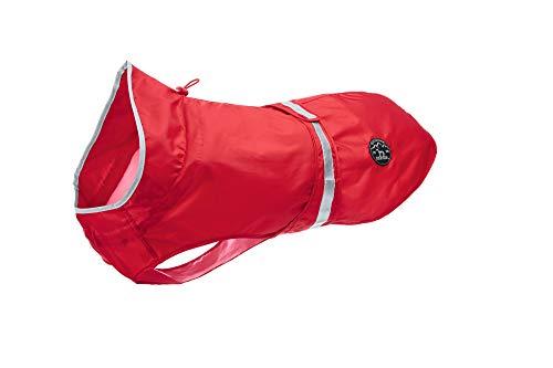 HUNTER UPPSALA RAIN Hunde-Regenmantel, mit reflektierenden Streifen, 45, rot