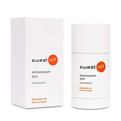 Sweat-Off Antitranspirant Stick 50ml gegen Schwitzen   Deo & Antitranspirant in einem   mit dezent-frischem Duft