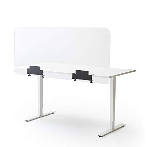 Spuckschutz und Trennwand Groß | Für Büro, Schreibtisch oder Tisch | Abmessung: 148 cm breit x 66,5 cm hoch, 4 mm dick