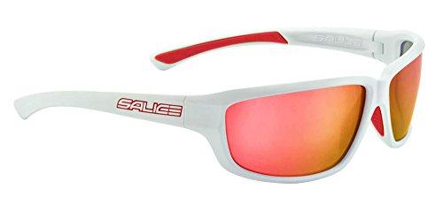 Salice, 001RW OCCHIALE SOLE SR Unisex-Adulto, Bianco/RW Rosso
