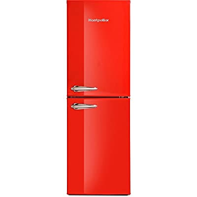 Montpellier MAB148R Retro Style 50-50 Freestanding Fridge Freezer - Red