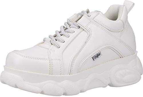 Buffalo Corin, Sneaker a Collo Alto Donna, Bianco (White 000), 40 EU