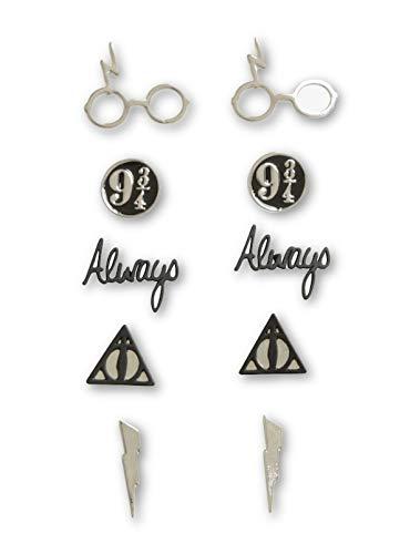 Harry Potter Symbols Earrings 5 Pai…