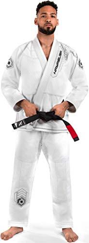 Hayabusa Warrior Gold Weave Jiu Jitsu Gi - White, A4