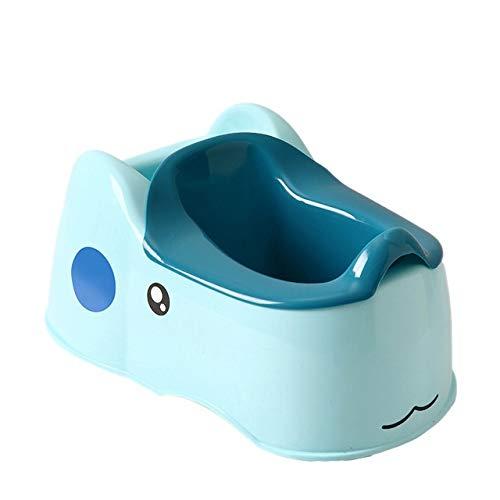 TUEWDFSA Kindertoilet Schattig babypotje voor jongens en meisjes, geschikt voor babytoiletten van 1 tot 6 jaar oud kindertoilet (kleur: blauw)