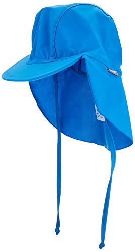 Sterntaler Jungen Schirmmütze mit Nackenschutz, UV-Schutz 50+, Alter: 9 - 12 Monate, Größe: 47, Farbe: Blau