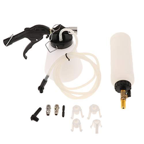 MagiDeal Purgador de Líquido de Frenos Neumático de 1 Litro Accesorios para Herramientas de Motocicleta - Blanco/Negro/Talla única
