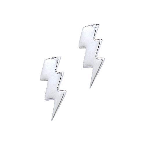 Boma Jewelry Sterling Silver Lightning Bolt Stud Earrings